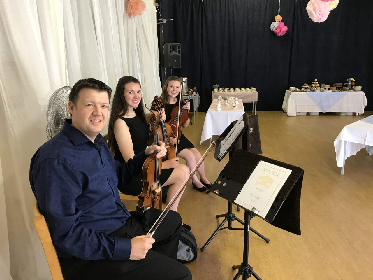 Bridge Strings ready to play at Tremains Primary.